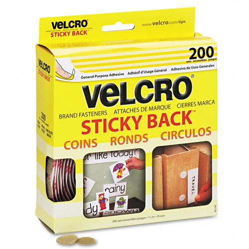 Velcro Hook and Loop Dots package