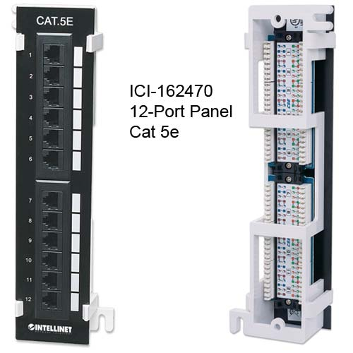 162470 Cat 5e 12-port patch panel