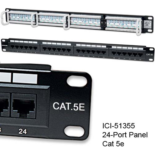513555 Cat 5e 24-port patch panel