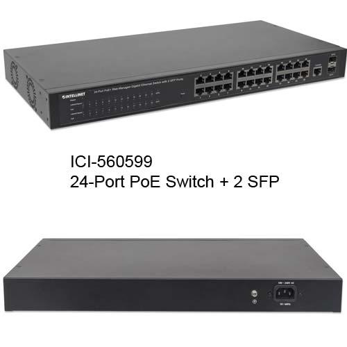 560559 24-Port PoE+ Web-Managed gigabit Ethernet Switch