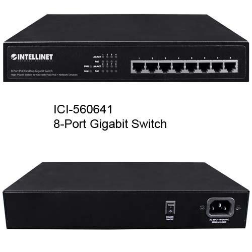 560641 8-Port PoE+ Desktop gigabit Switch