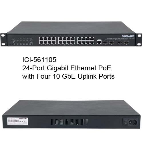 561105 24-Port gigabit Ethernet PoE+ Web-Managed Switch