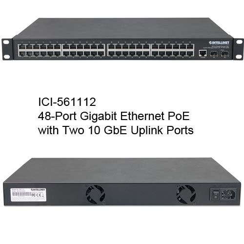 561112 48-Port gigabit Ethernet PoE+ Web-Managed Switch