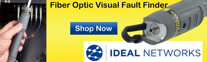 find issues in fiber optic cable with VFF5 Visual Fault Finder by Ideal Networks