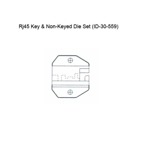 diagram of ideal industries 30-559 rj45 key and non keyed die set - icon