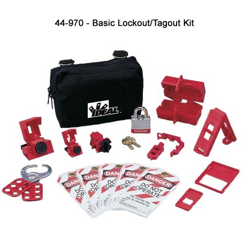 ideal industries 44-970 basic lockout tagout kit components - icon