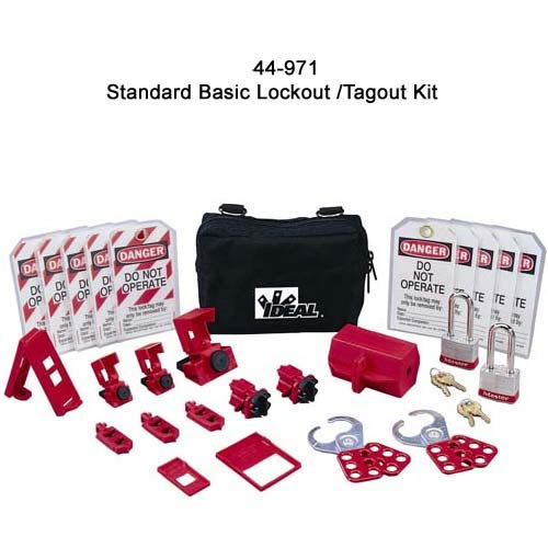 ideal industries 44-971 standard lockout tagout kit components - icon