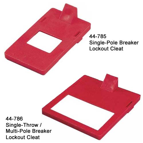 ideal industries 44-785 single-pole breaker lockout cleat and 44-786 single throw multi-pole breaker lockout cleat - icon