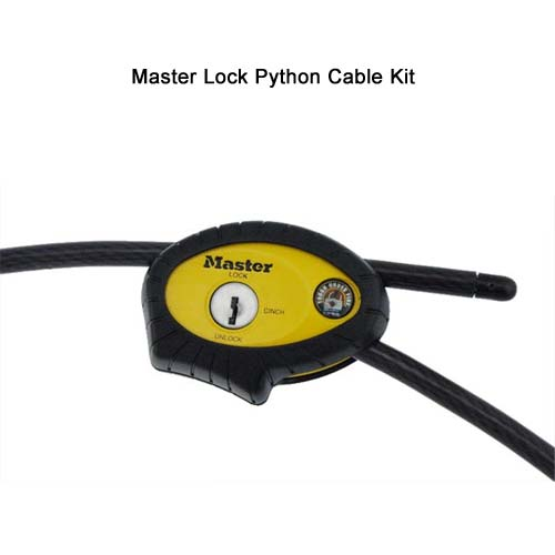 close up of lock on ideal industries 44-990 master lock python kit with 6 foot cable - icon