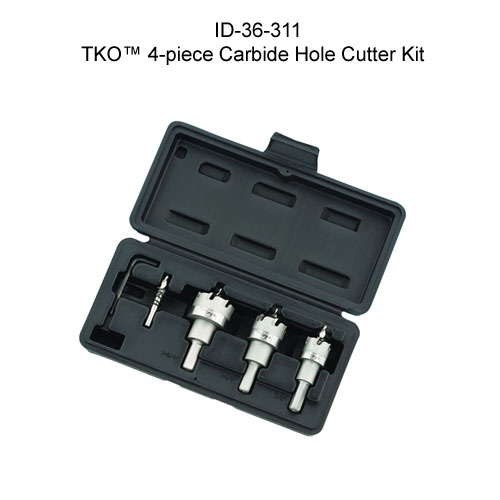ideal industries 36-311 tko carbide tipped hole cutter kit with case - icon
