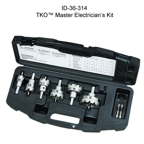 ideal industries 36-314 tko carbide tipped master electricians kit with case - icon