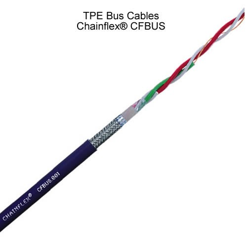 layers of igus chainflex tpe bus cable with labels - icon