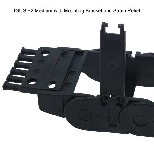 igus e2 medium with mounting bracket and strain relief - icon