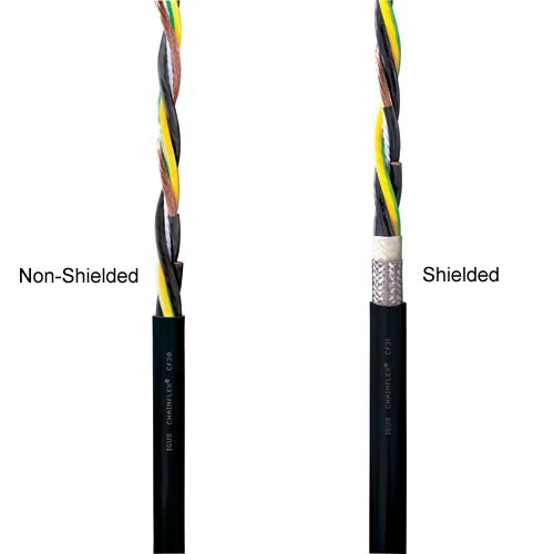 layers of igus chainflex non-shielded and shielded pvc power cables - icon
