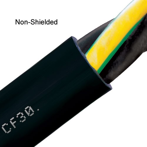 close up of igus chainflex non-shielded pvc power cable - icon