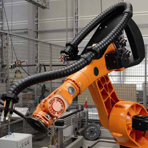 igus triflex e-z design cable carrier in use on machinery - icon