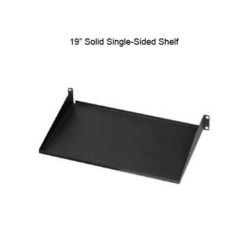 19 inch solid single sided shelf - icon