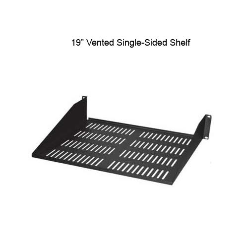 19 inch vented single sided shelf - icon