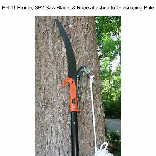 jameson pruner saw blade and rope attached to a telescoping pole - icon