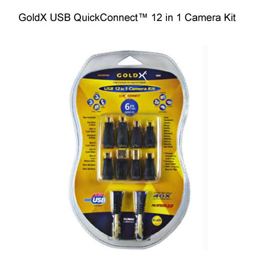 goldx usb quickconnect 12 in 1 camera kit in package icon