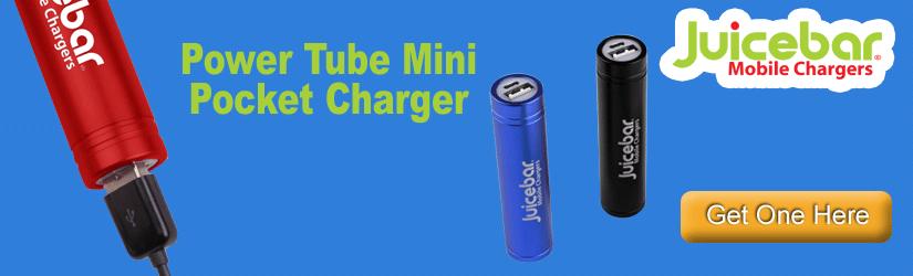 Juicebar Power Tube Mini Pocket Charger