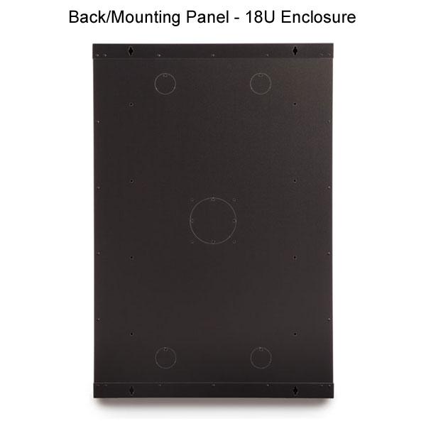 back panel for 18U enclosure