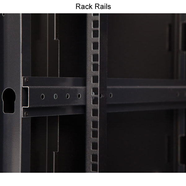 closeup of rack rail
