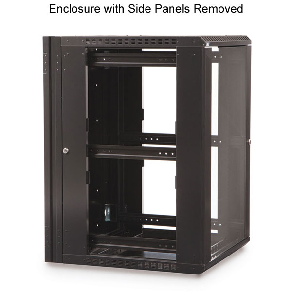 enclosure with side panels removed