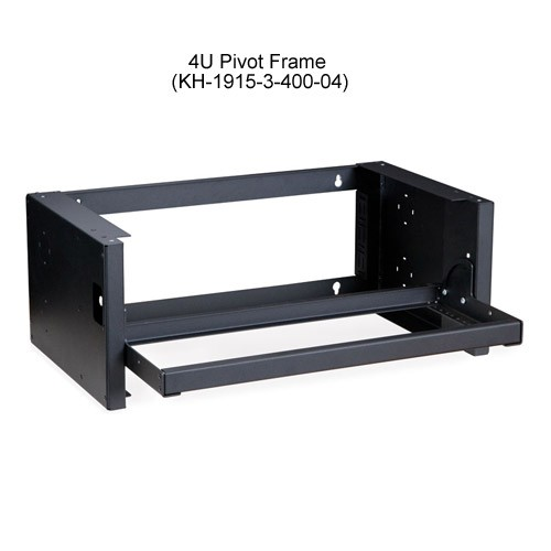 Kendall Howard Pivot Frame Open Rack Wallmount 4U Open