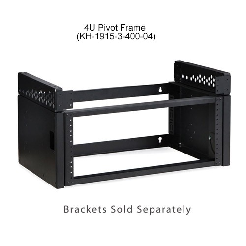 Kendall Howard Pivot Frame Open Rack Wallmount 4U with Brackets