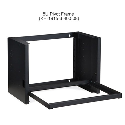 Kendall Howard Pivot Frame Open Rack Wallmount 8U Open
