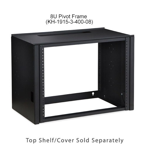 Kendall Howard Pivot Frame Open Rack Wallmount 8U with Shelf