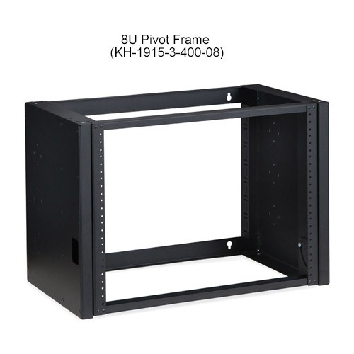Kendall Howard Pivot Frame Open Rack Wallmount 8U