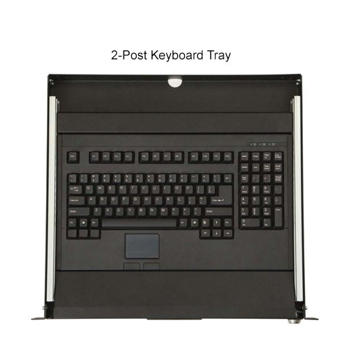 Kendall Howard 2-Post Rackmount Keyboard Tray Top View - icon
