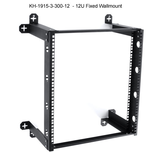 kendall howard v-line 12u fixed open wall mount rack icon