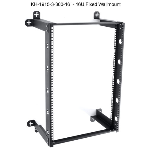 kendall howard v-line 16u fixed open wall mount rack icon