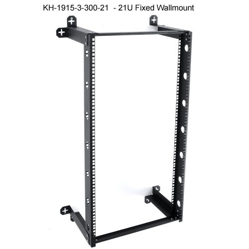kendall howard v-line 21u fixed open wall mount rack icon