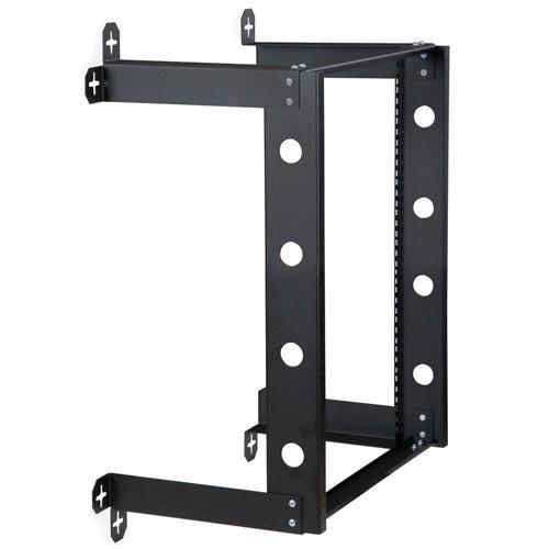 kendall howard v-line 12u fixed open wall mount rack dimetric view