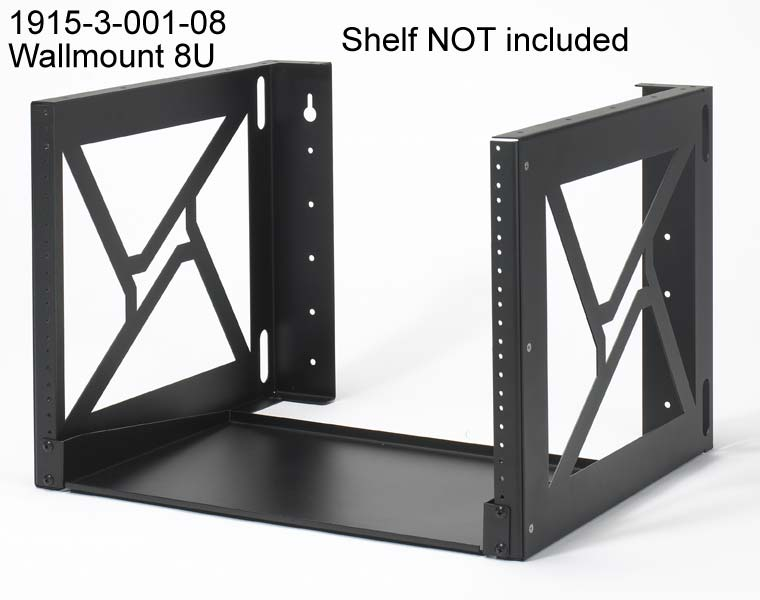 kendall howard 8u wall mount rack icon