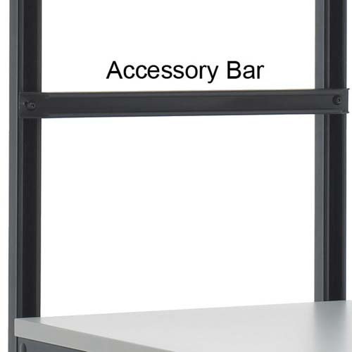 kendall howard performance series computer workbench accessory bar - icon