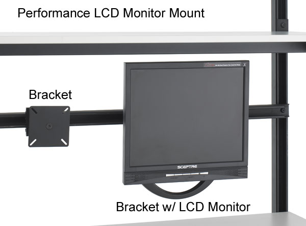 kendall howard performance series computer workbench lcd monitor mount - icon