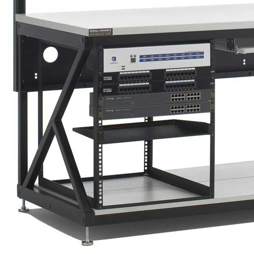 kendall howard performance series computer workbench rack in use - icon