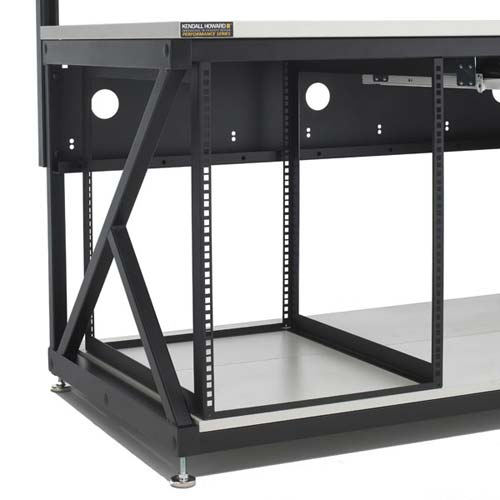 kendall howard performance series computer workbench rack, empty - icon