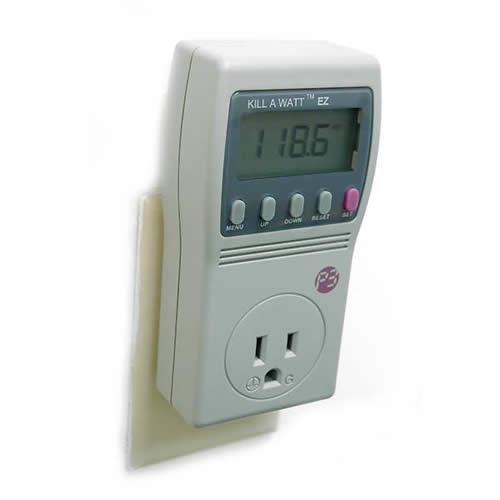 Image of a pluged in Kill A  Watt Electricity Usage Monitor - icon