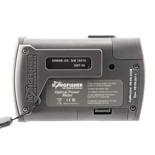 back view of kingfisher ki 9600 series optical power meter - icon