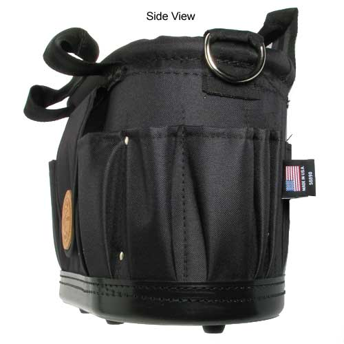 klein tools 17 pocket tool tote with shoulder strap side view - icon