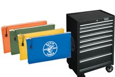 Klein tool bags, storage chests