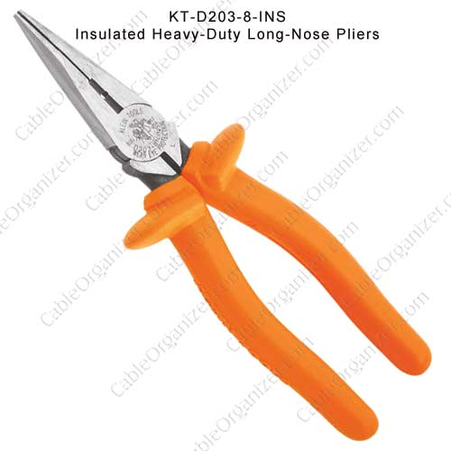 long nose pliers with insulated handle