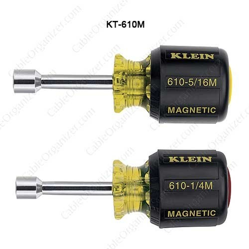 Klein Tools 2 Pc Magnetic Tip Set, 1-1/2in Hollow Shaft - icon