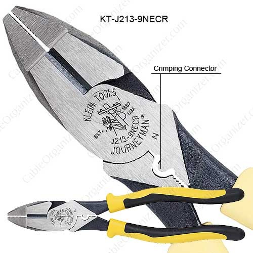 Klein Tools Journeyman™ High-Leverage Side-Cutting Pliers Connector Crimping - icon
